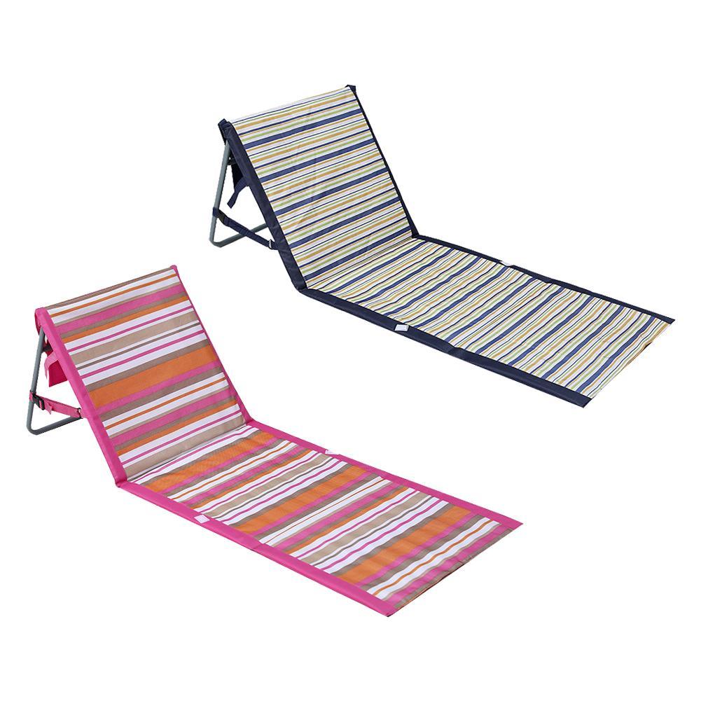 Portátil playa estera del suelo Silla de playa de arena de playa Mat plegable impermeable respaldo tumbona sofá reclinable para al aire libre Camping