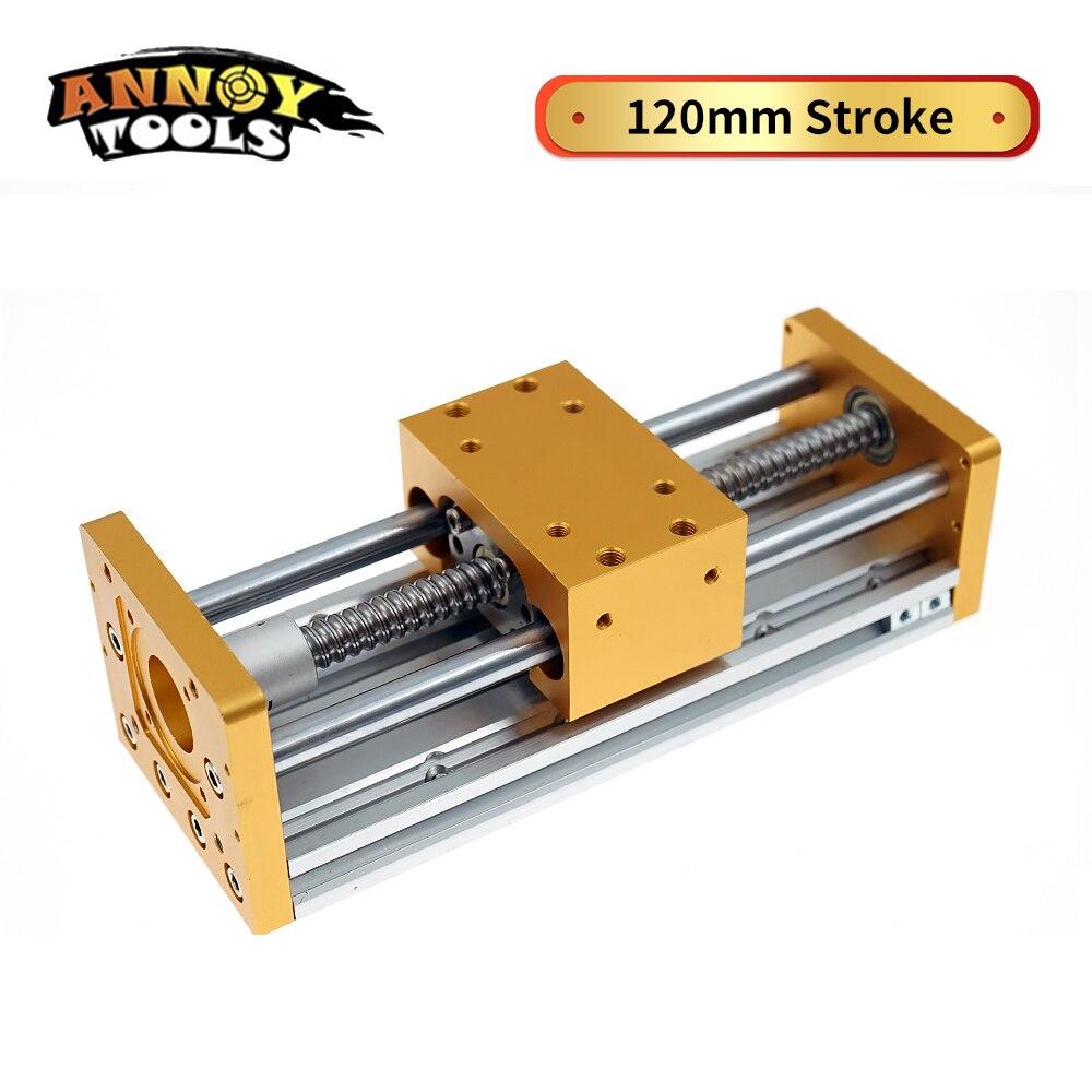 Zaxis Sliding table Aluminum Sliding 120mm Stoke Engraving Machine Accessories Nema 23/57 Stepper Motor Spindle Diameter 52mm
