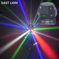 new hot 16x3w rgbw festoon laser led 2 in1 beam moving head light for disco bar club party show dmx512 wedding stage lighting