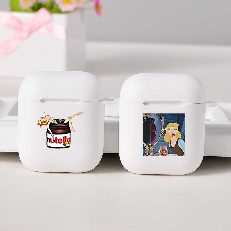Nutella parodia de dibujos animados lindo aire vainas caso Personal para los Airpods 1/2 cubierta suave Bluetooth auricular inalámbrico caso aire vainas caso