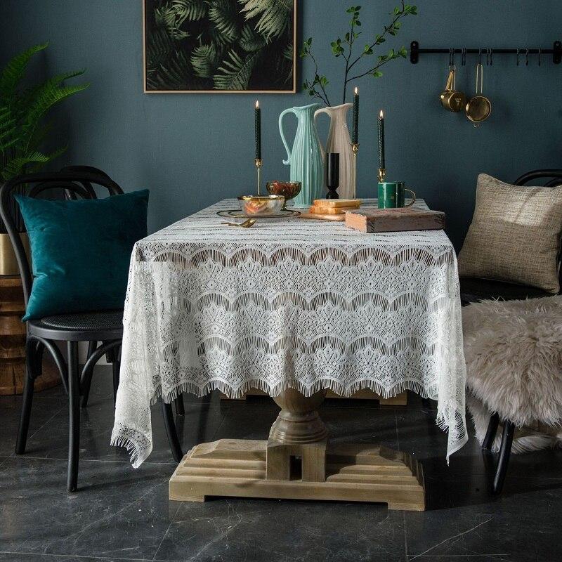 País encaje mantel calado decorativo cubierta tela servilleta mesa de café pestaña café mesa de libros