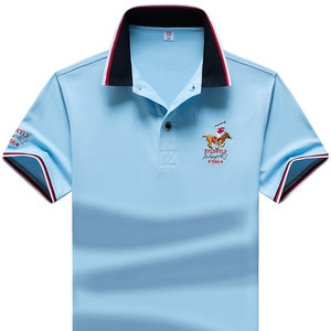 6 Colors Brand Men Polo Shirt Luxuy Horse Embroidered Men Short Sleeve Polo Shirt