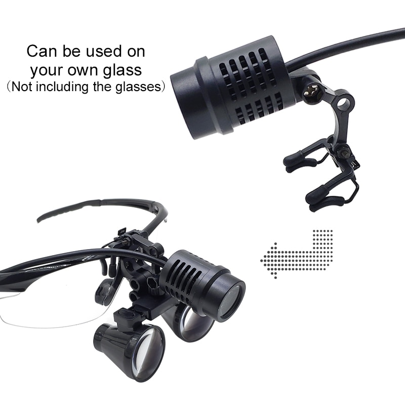 50000LUX LED Headlight White Light Spotlight for Surgery Medical Dental Loupe Head Lamp Light with Clips Chargeable Power Bank enlarge