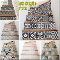 Funlife  Autocollants decoratifs pour escaliers  auto-adhesifs  etanches  pour meubles descalier  salle de bain  cuisine  maison  bricolage