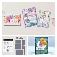 sping flowers happy to you metal cutting dies stamps scrapbook secoration embossing stencil template greeting card handmade