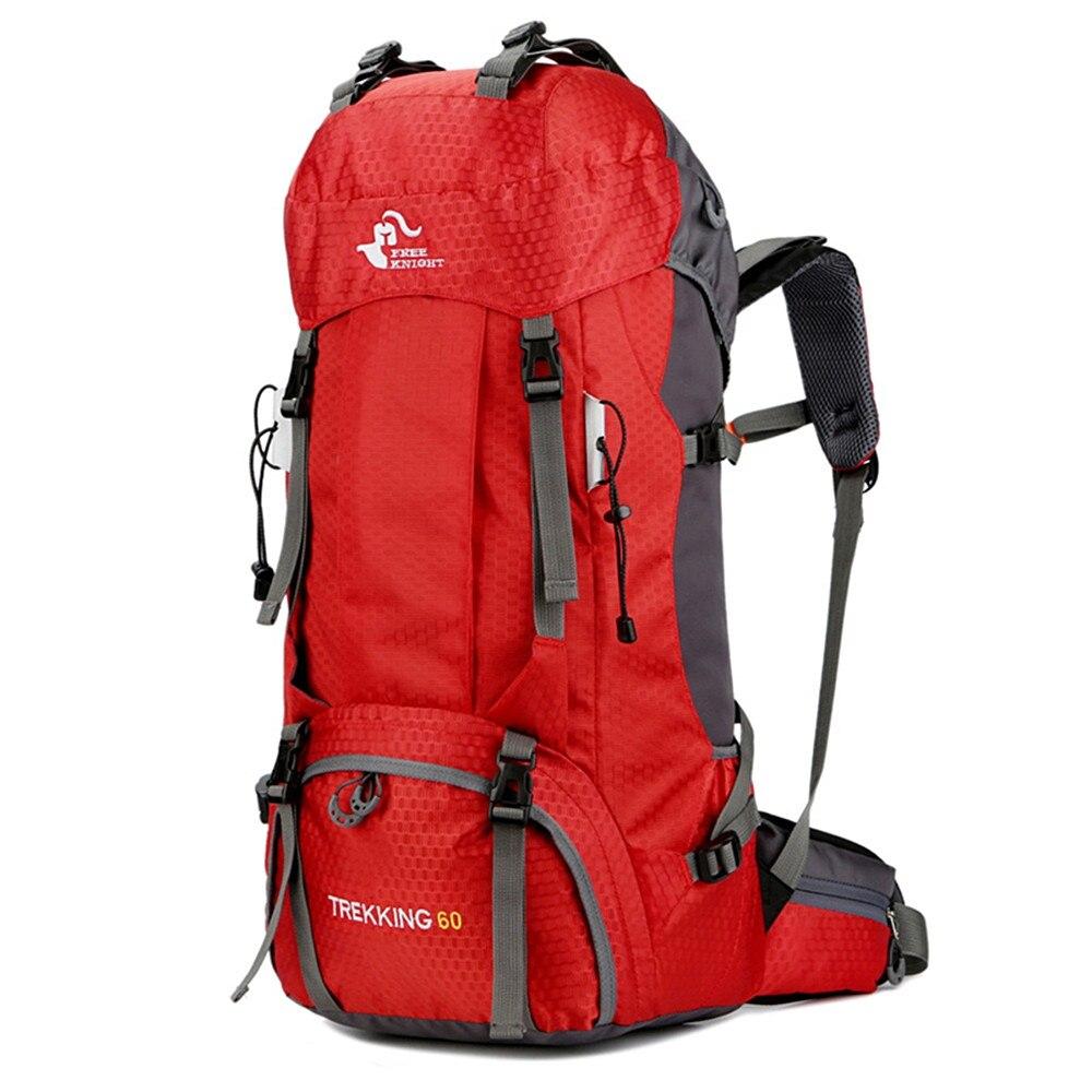 60L التخييم حقائب ظهر للجري في الهواء الطلق حقيبة السياحية الظهر النايلون الرياضة حقيبة ل تسلق السفر مع غطاء للمطر mochilas스포츠백팩