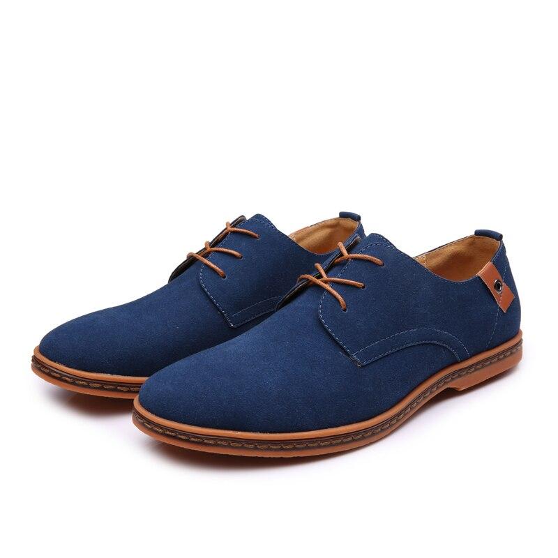 NXY Осенняя обувь, повседневная мужская обувь из коровьей замши на плоской подошве со шнуровкой, молодежная повседневная обувь, удобные клас...