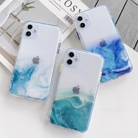luxury marble transparent phone case for iphone 11 12 mini pro max xs x xr 7 8 plus se 2020 soft silicone shockproof cases cover
