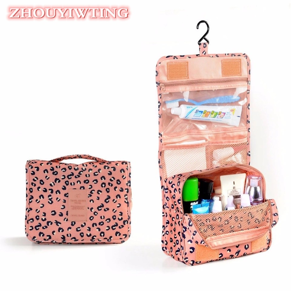 Women Travel Cosmetic Bag Portable Waterproof Storage Case Female Hanging Wash Bags Organizer Make Up Toiletry Beauty Kit Box hanging travel cosmetic bag women zipper make up bags oxford high capacity makeup case handbag organizer storage wash bag