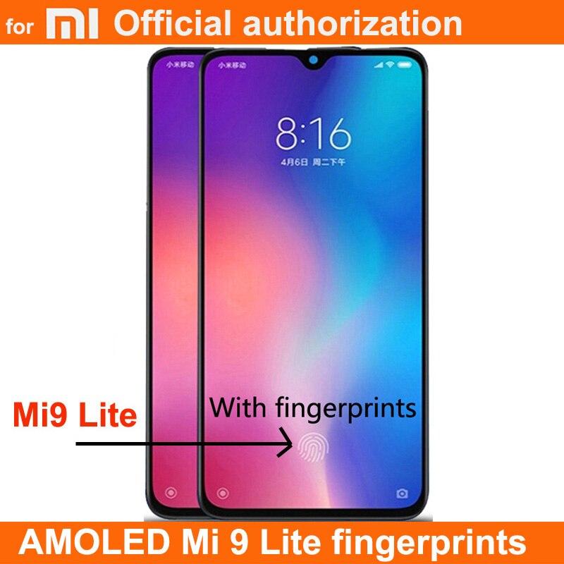 Huellas Dactilares AMOLED de 6,39 pulgadas para Xiaomi Mi 9 Lite Mi9 Lite, pantalla LCD de montaje de digitalizador con pantalla táctil para XiaomiMi CC9, pantalla LCD