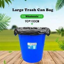 10 Pcs/Set Big Capacity Trash Can Bag Heavy Duty Extra Large Commercial Trash Bag Garbage Yard Black Hotel Market