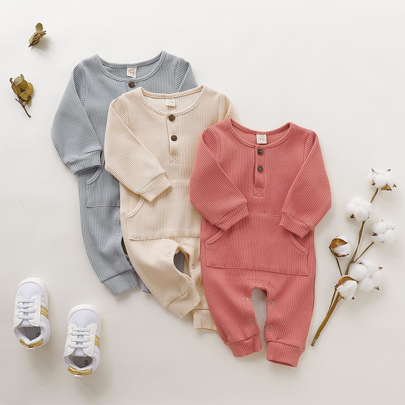 baby girl clothes autumn lattice knitted baby clothes newborn baby girl romper cotton baby cardigan sweater romper jumpsuit Newborn Baby Boy Girl Romper Cotton Long Sleeve Knitted Ribbed Jumpsuit Baby Girl Boy Clothes Infant Autumn Toddler Outfits
