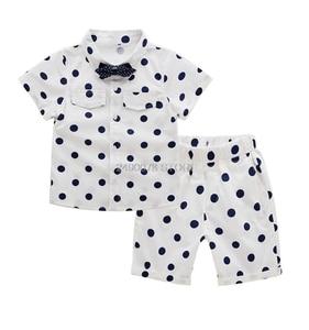 2020 School Boys Summer Clothing Set Dot Blazer+Shorts 2PCS Gentleman Kids Wedding Dress Enfant Garcon Mariage Party Wear
