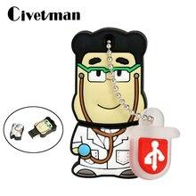 Neue Cartoon Ärzte Memory Stick 4GB 8GB 16GB 32GB 64GB Schöne Medical Stick Cartoon USB -Stick 256GB Arzt Stick