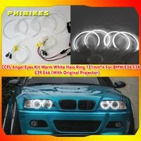 ccfl angel eyes kit warm white halo ring 131mm4 for bmw e36 e38 e39 e46 with original projector
