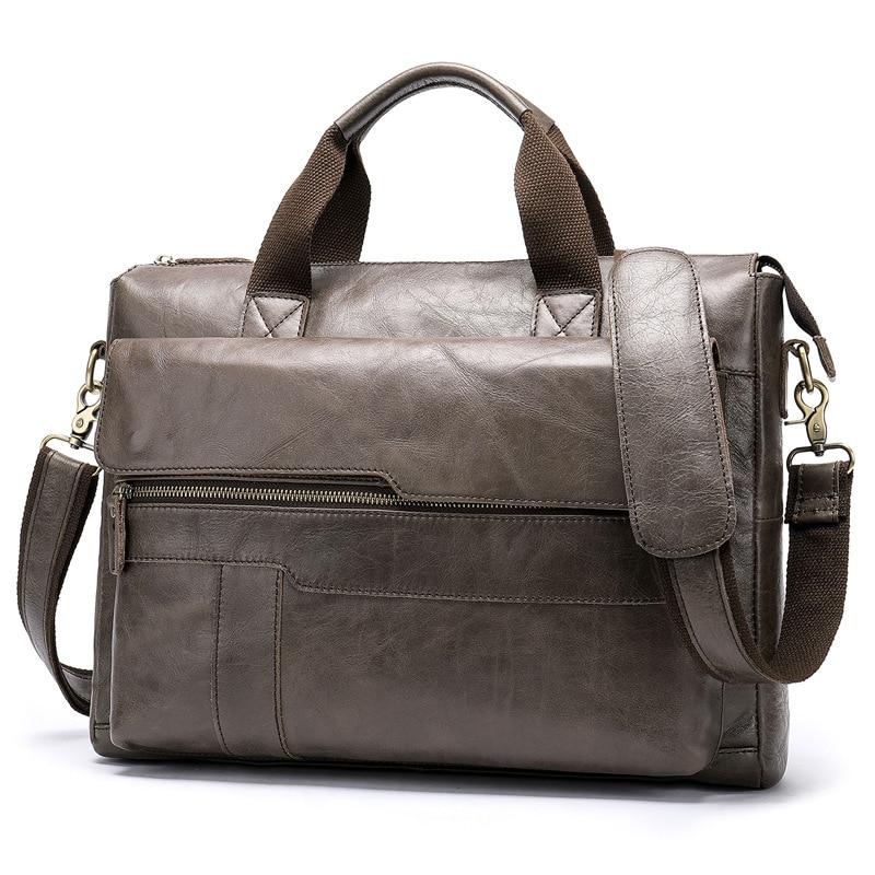New Fashion Luxury Brand designer 15 inch Laptop Briefcase Business Handbag for Men Large Capacity men's leather Shoulder Bag