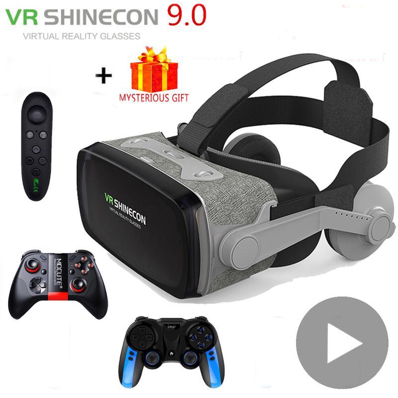 جديد VR Shinecon Casque Viar نظارات ثلاثية الأبعاد الواقع الافتراضي خوذة نظارات عدسة آيفون أندرويد الهاتف الذكي مناظير