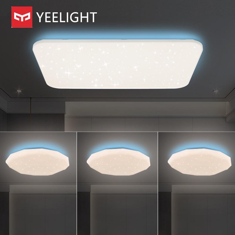 Yeelight-مصباح سقف ذكي ، إصدار ملون ، ضوء جانبي ، قابل للتعتيم ، بلوتوث ، تطبيق عن بعد ، تحكم صوتي ، يعمل مع Mi Home Siri Homekit