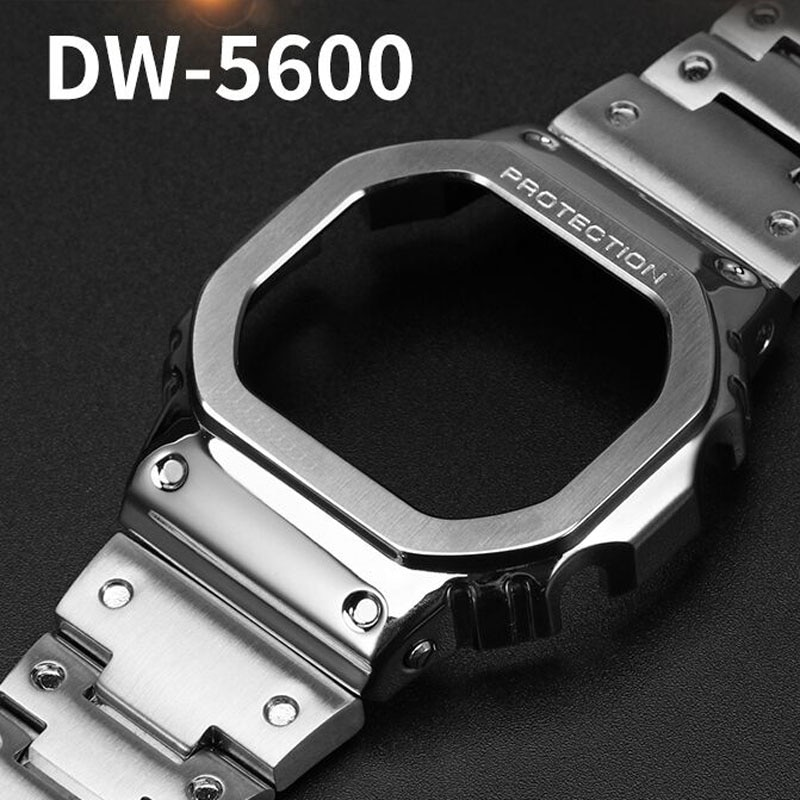 New Gen 4rd Watchband and Bezel for DW5600 CasiOak Modified Accessories 316L Stainless Steel Strap Cover with Tools Screws enlarge