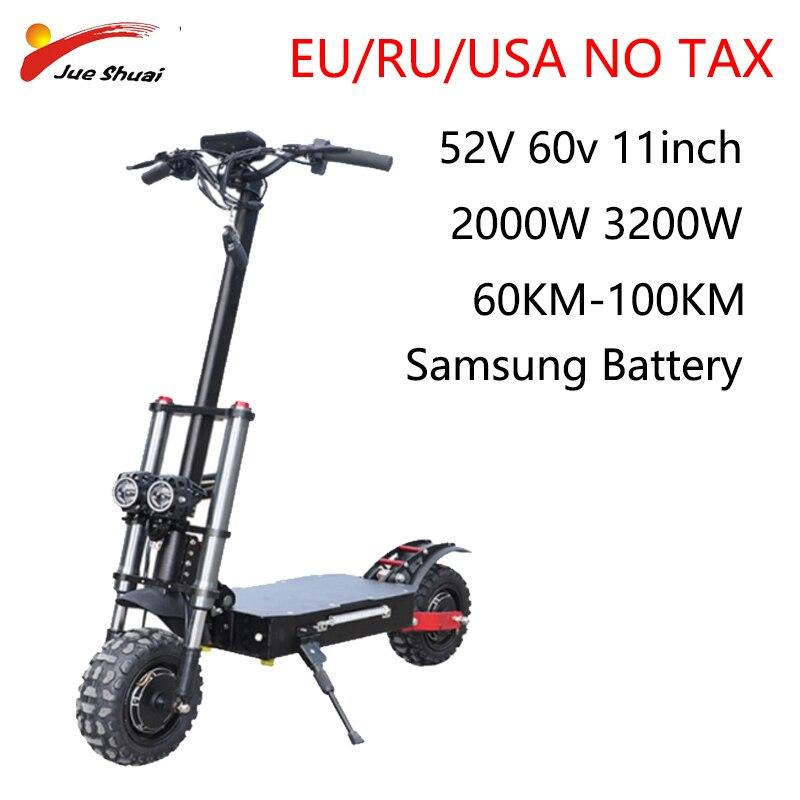 Patinete eléctrico plegable para adultos, Scooter con Motor Dual de 11 pulgadas,...