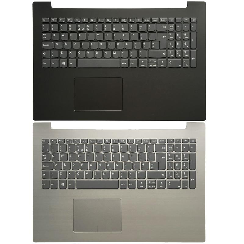 لوحة مفاتيح بريطانية جديدة لجهاز Lenovo IdeaPad 330-15IKB 330-15 ، غطاء علوي للكمبيوتر المحمول مع لوحة مفاتيح