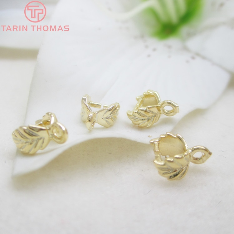 10PCS 7.5x6MM 24K Champagne Gold Color Plated Brass Charm Pendants Connector High Quality Diy Jewelry Findings Accessories недорого