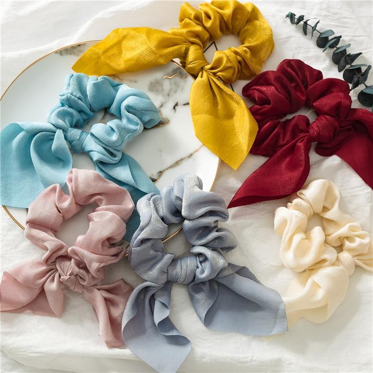 Novi šifonski elastični trakovi za lase za ženske in deklice, - Oblačilni dodatki - Fotografija 5