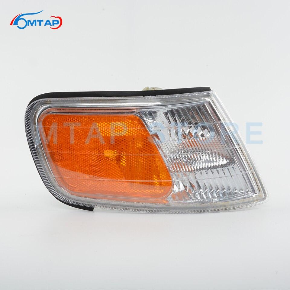 Автомобильный передний бампер, угловой светильник, поворотная сигнальная лампа для Honda Accord 1994 1995 1996 97 CD CE желтая лампа