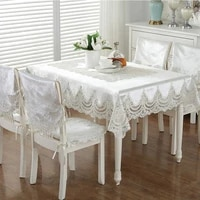 european luxury tablecloth rectangular coffee table lace cover towel modern tablecloth wedding fabric chair cover cushion