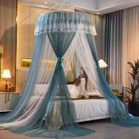 bed canopy double colors hung mosquito net princess bed tent curtain foldable canopy on the bed elegant fairy lace dossels