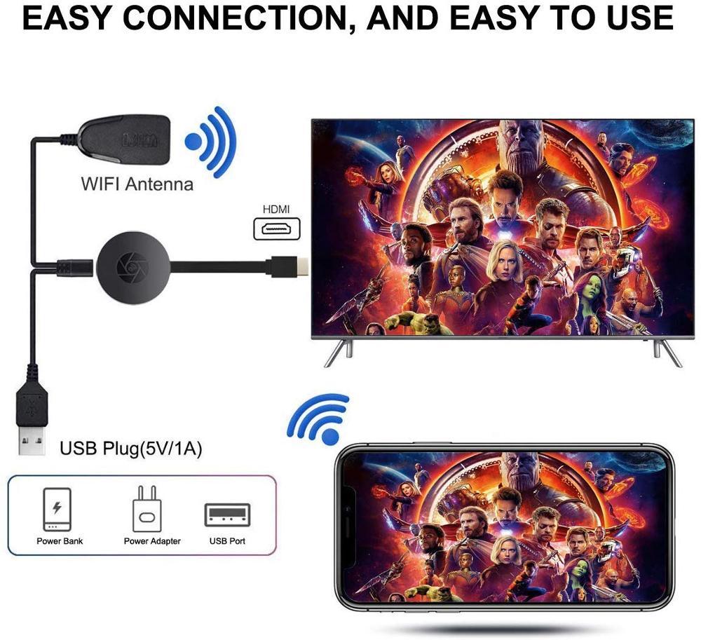 Купить с кэшбэком MiraScreen TV Stick HDMI-compatible Dongle HD anycast Miracast DLNA Airplay WiFi Display Receiver Dongle Support Windows Andriod