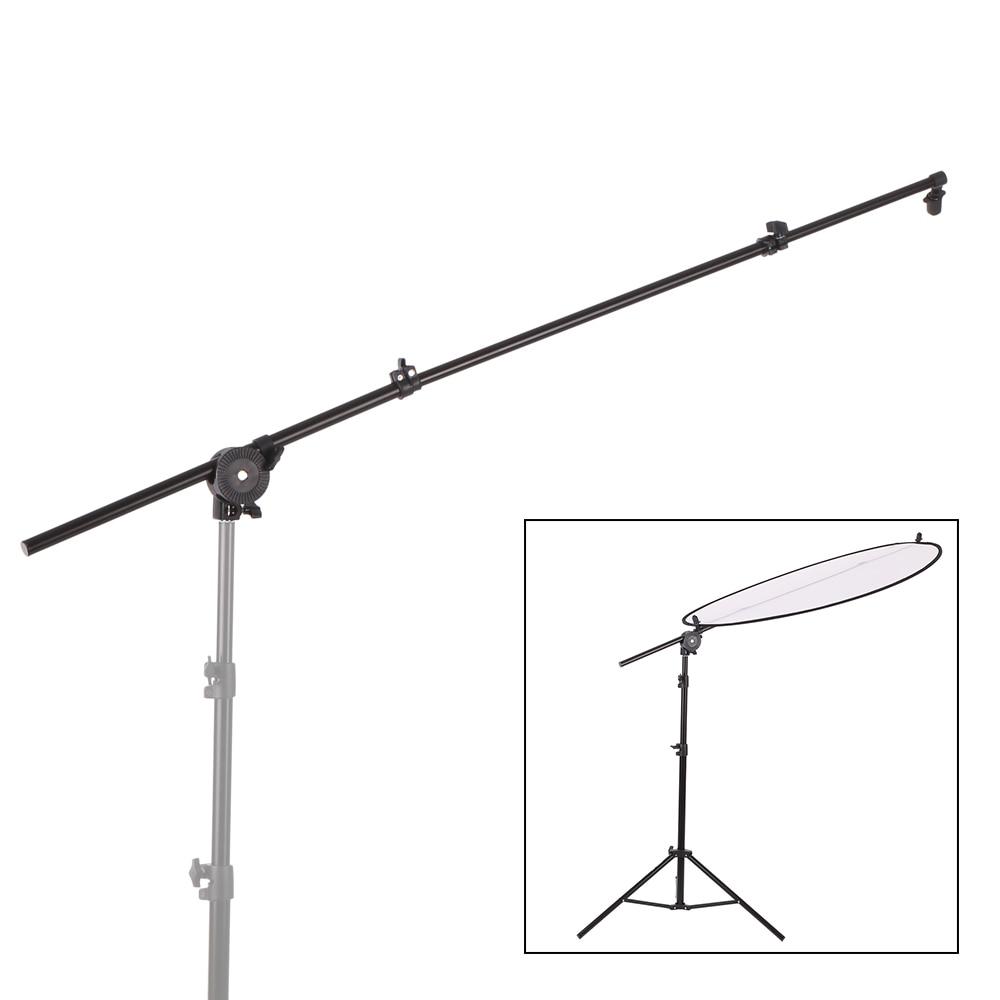Reflector difusor con soporte extensible para estudio fotográfico con soporte brazo de apoyo con abrazadera giratoria Flexible