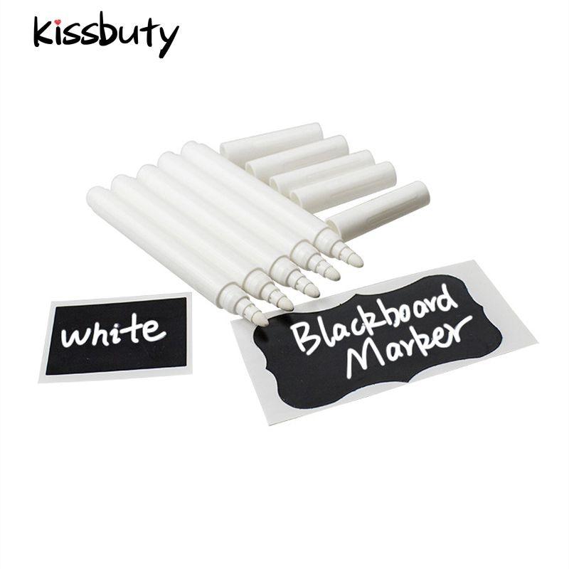 3/5/10/12Pcs/Set White Liquid Chalk Pen Marker For Glass Windows Electronic Blackboard Chalkboard Window White Pen Wall Sticker