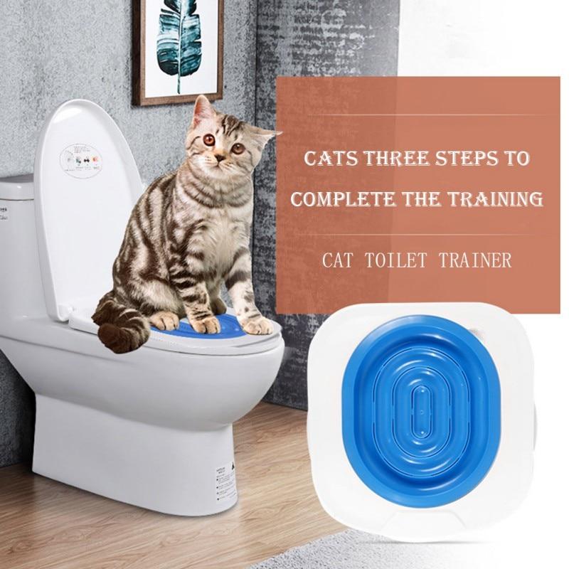 Système de toilette ABS pour chiot chat   Centre de toilette pour litière pour chiot chat nettoyage des chats, formation système de toilette, fournitures de Guide de litière pour chiot