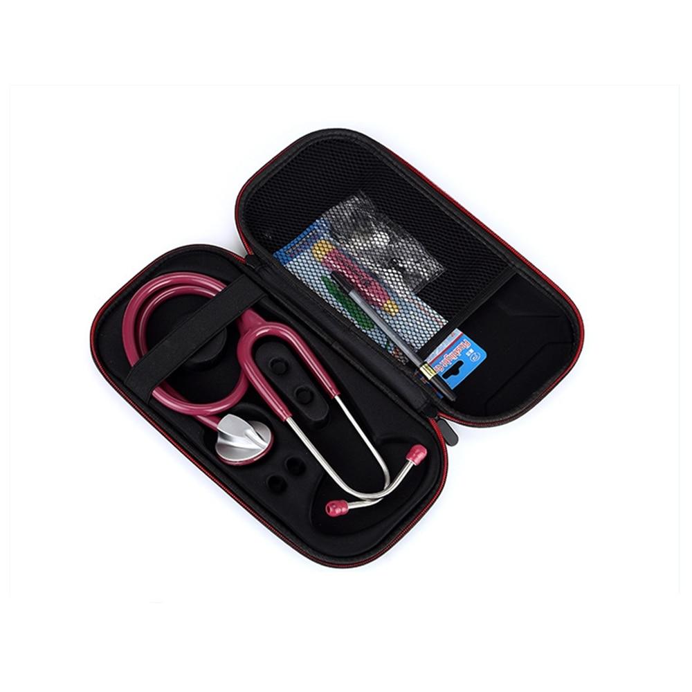 Hard EVA Portable Stethoscope Carrying Case Storage Box Shell Mesh Pockets For 3M Littmann III Stethoscope Medical Organizer Bag