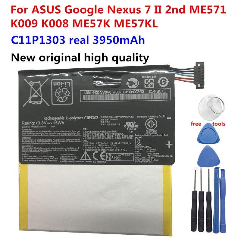 "Nuevo Original para ASUS C11P1303 3950mAh batería para Asus Google Nexus 7 ""7 II 2 2nd Gen 2013 ME571 ME57K ME57KL K009 K008 + herramientas"