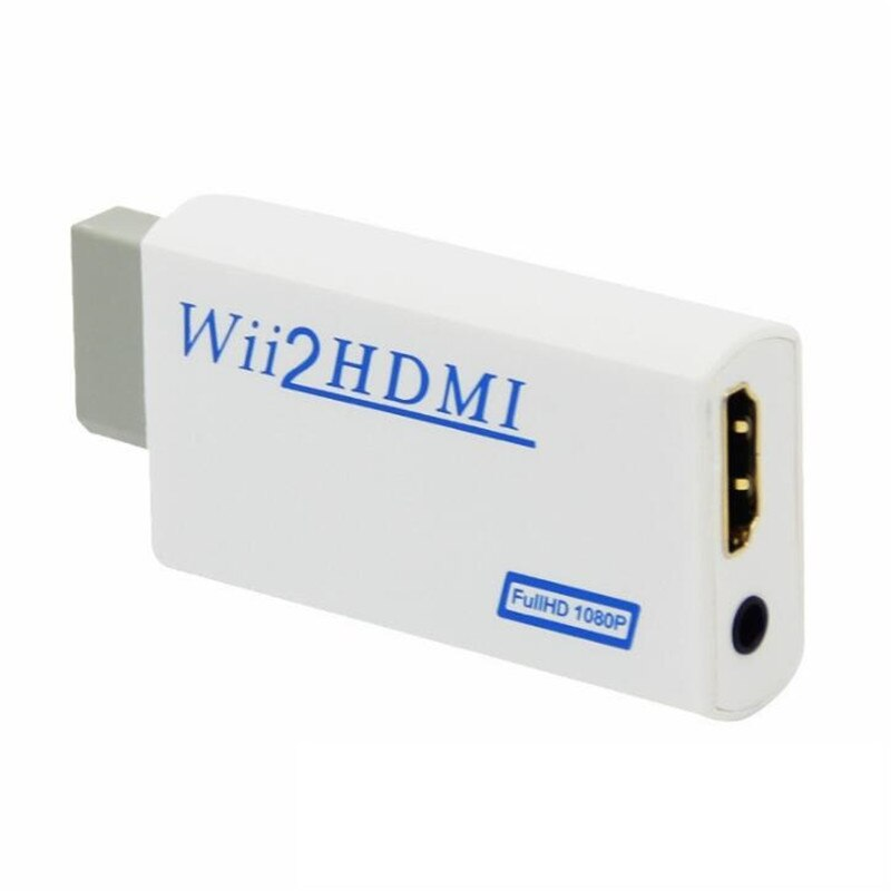 100 قطعة الكثير دعم 720P 1080P الأصلي ل وي لتحويل محول HDMI 3.5 مللي متر الصوت ل HDTV ل Wii2HDMI