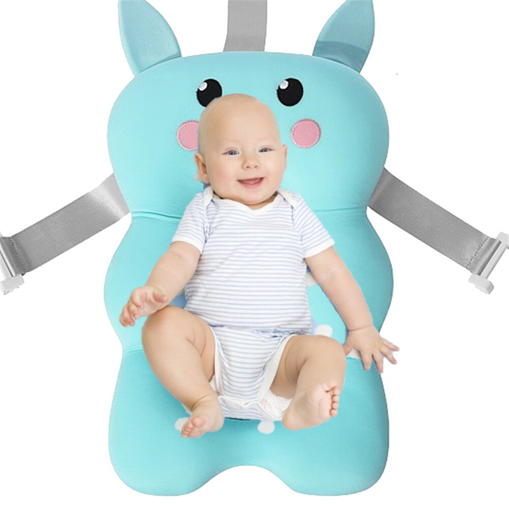 Baby Shower Pad Nonslip Soft Infant Bath Tub Pillow Padded Comfy Foldable Bath Support Cushion For Newborns Toddlers