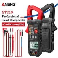 ANENG ST210 токовые клещи ac/dc мультиметр профисионал цифровой тестер токовые клещи зажим-Измеритель постоянного/переменного тока 6000 А тик ток то...