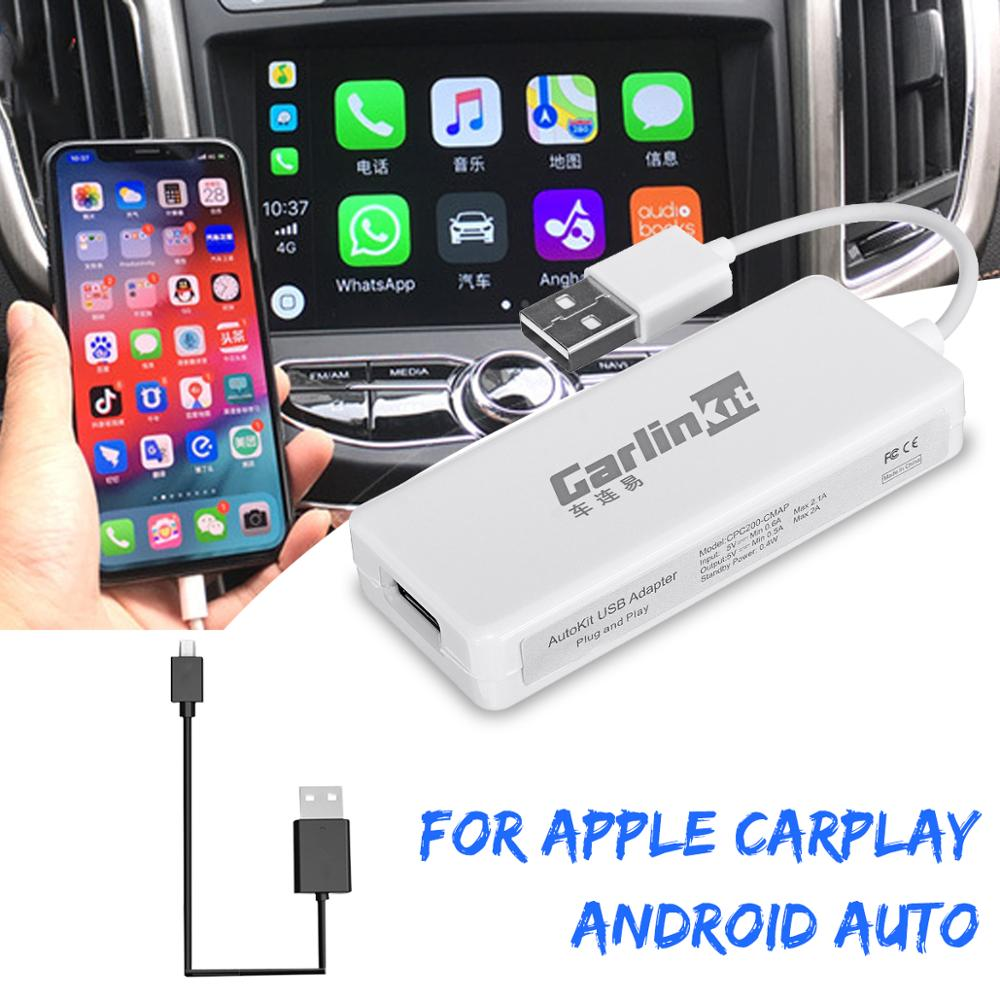 Enlace de coche USB enlace inteligente Apple CarPlay Dongle para Android reproductor de navegador Mini USB coche jugar Stick con Android Auto