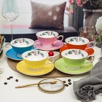 european bone china coffee cup plate coffee cup set cake plate western restaurant afternoon tea cup gift can be customized