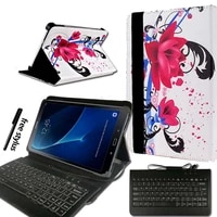 kkll for samsung galaxy tab a a6 10 1 t580 t585 2016 pu leather tablet stand folio cover case micro usb keyboard