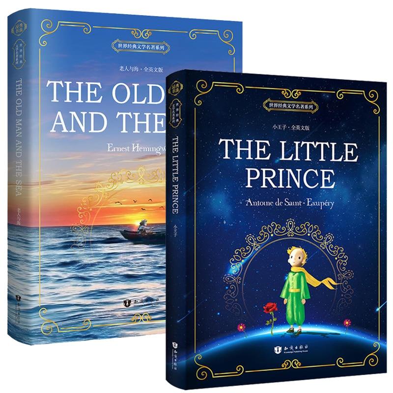 2 livros/conjunto o pequeno príncipe/o velho homem e mar inglês original novel livros autêntico leitura extraturricular livros mundialmente famosos