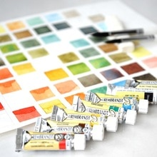 Imported REMBRANDT Artist Watercolor Paint Master Grade 20ml Tube 80 Colors Acuarela Single Aquarell