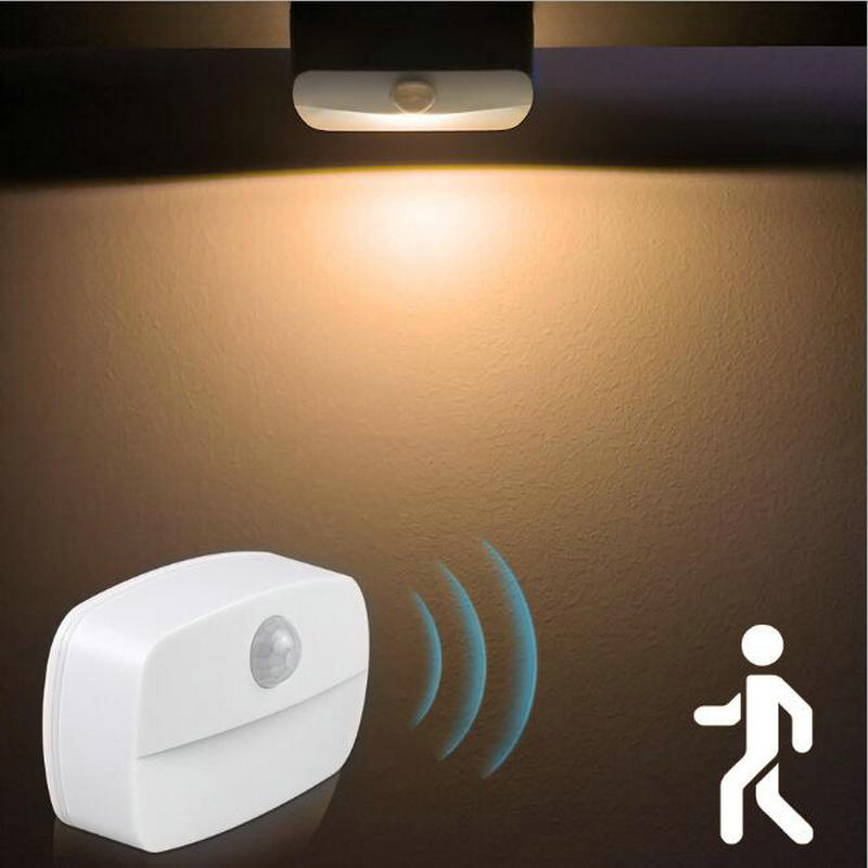 2021 New LED Motion Sensor Light Battery Operated Wireless Wall Lamp Night Light No Glare Corridor Closet LED Cabinet Door Light
