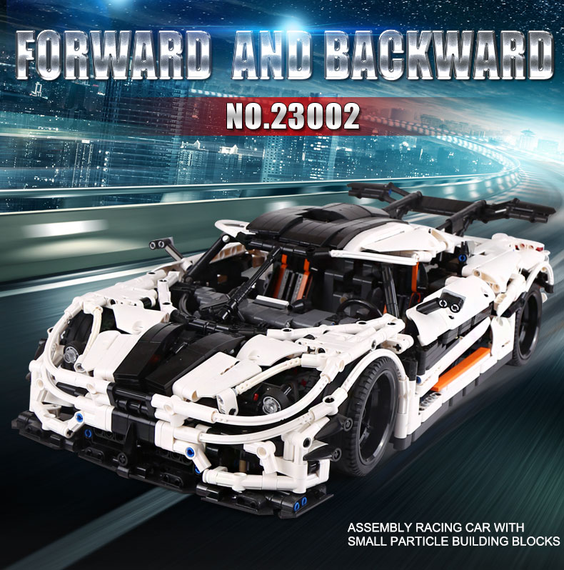 Форма KING MOC высокотехнологичная суперспортивная гоночная модель белого автомобиля, строительные блоки, кирпичи, Обучающие игрушки, подарки...