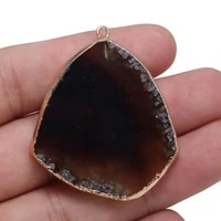 natural black agats necklace pendants irregular water drop shape agats pendants for jewelry making diy necklace size30x45 35x50m