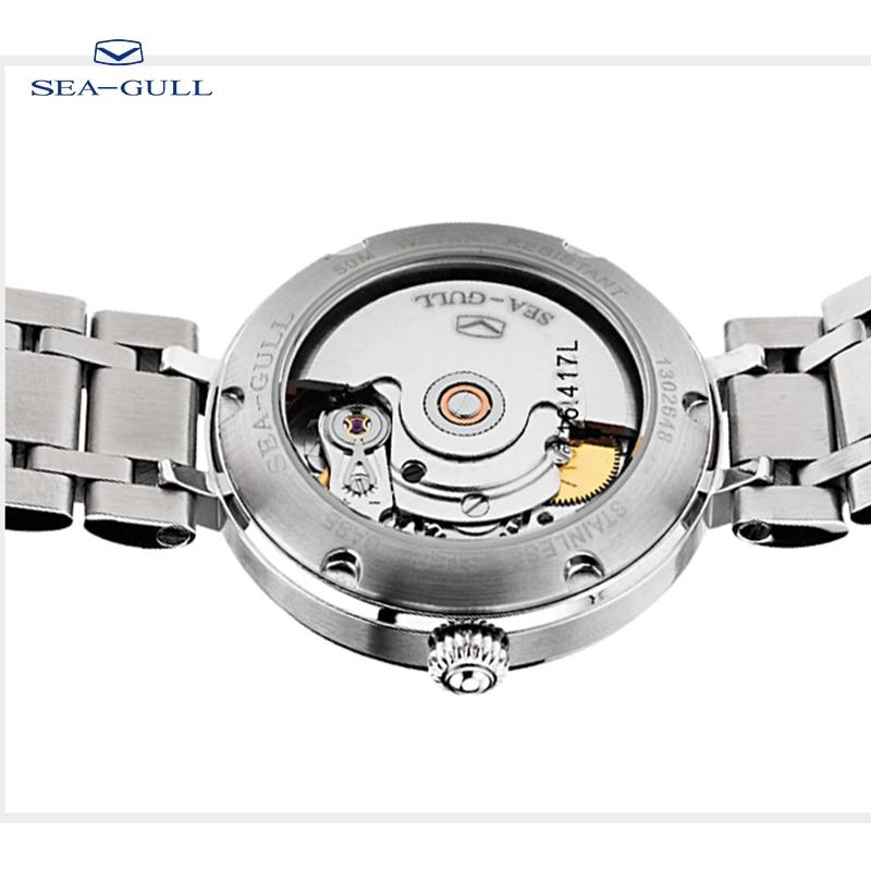 Seagull ladies watch fashion diamond steel belt calendar automatic mechanical watch female watch waterproof watch 716.417L enlarge