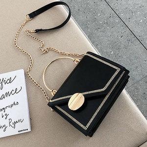 Matcha Green PU Leather Chain Design Crossbody Bags Women Small Chain Handbag Small Bag Hand Bag Ladies Designer