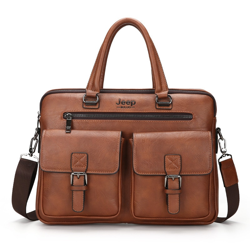 Cross-Border Classic Mens Bag Jeep Shoulder Casual Fashion Briefcase Factory Direct